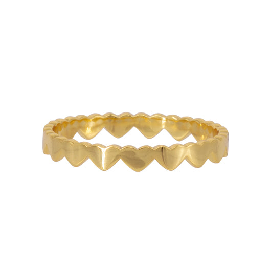 Anillo Multi Heart Gold