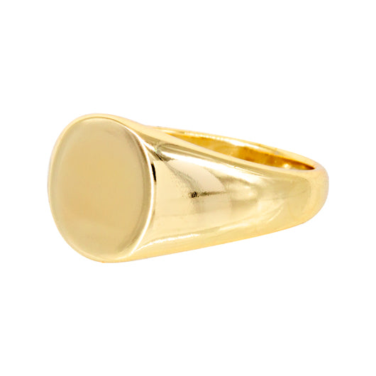 Anillo Oval Stamp Gold