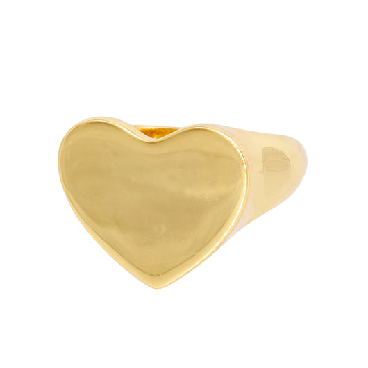 Seal Ring Heart Gold