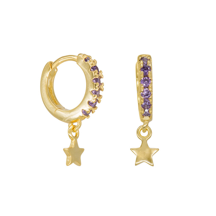 Aros Mini Shine Star Purple (1 Unidad)