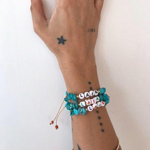 Pulsera Summer Turquoise (Personalizable)