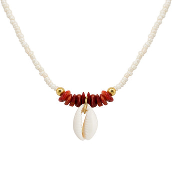 Collar Cowry Lia Red
