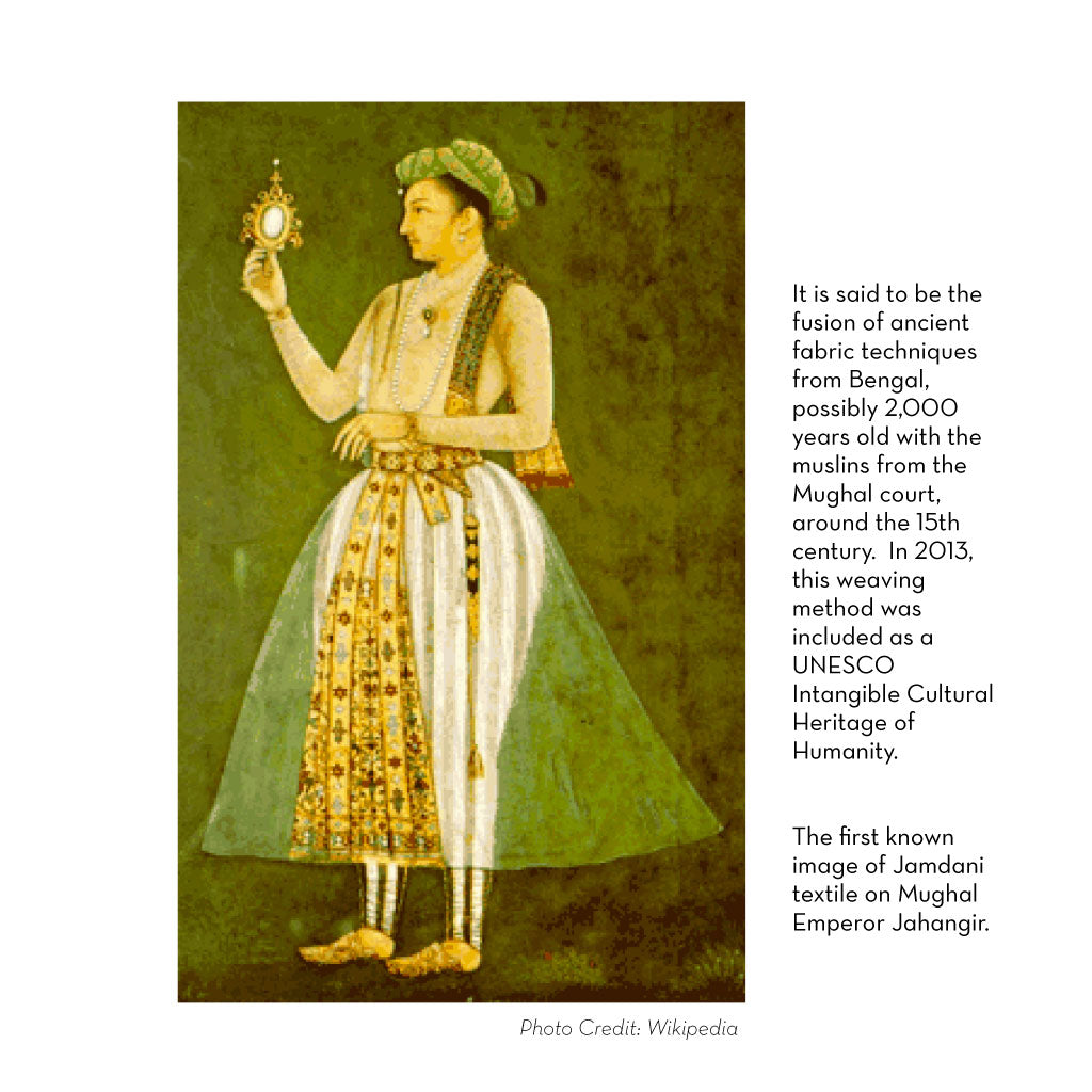 Painting of Mughal Emperor standing