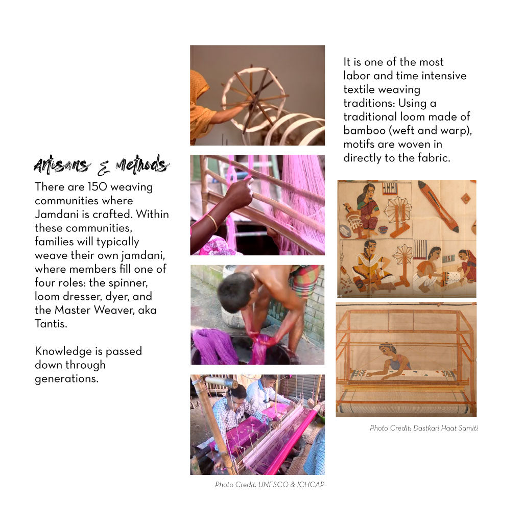 Images of weaving and looms
