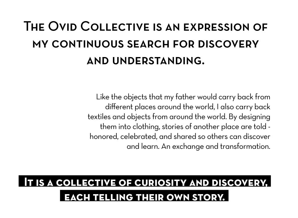 Text about The Ovid Collective: An expression of my continuous search for discovery and understanding.