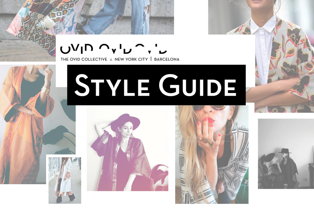 Style Guide written on top of different fashion images