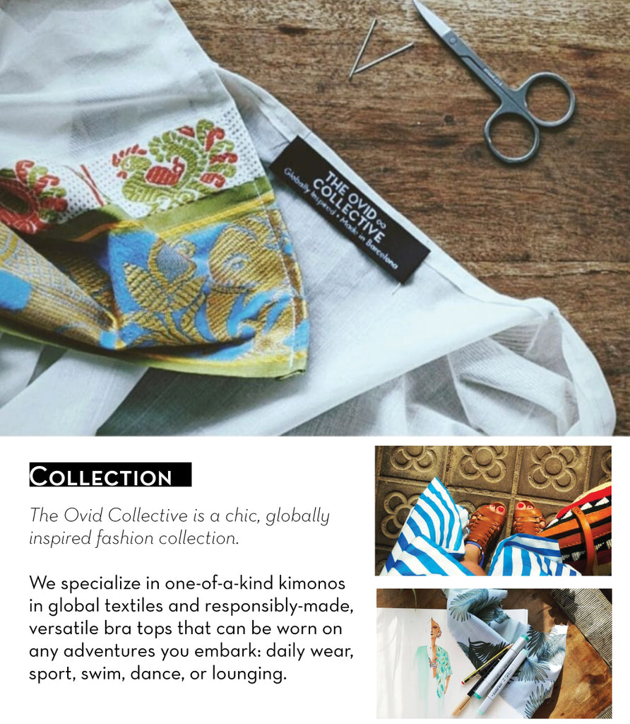 The Ovid Collective About Page - fashion lifestyle and travel brand with global textiles