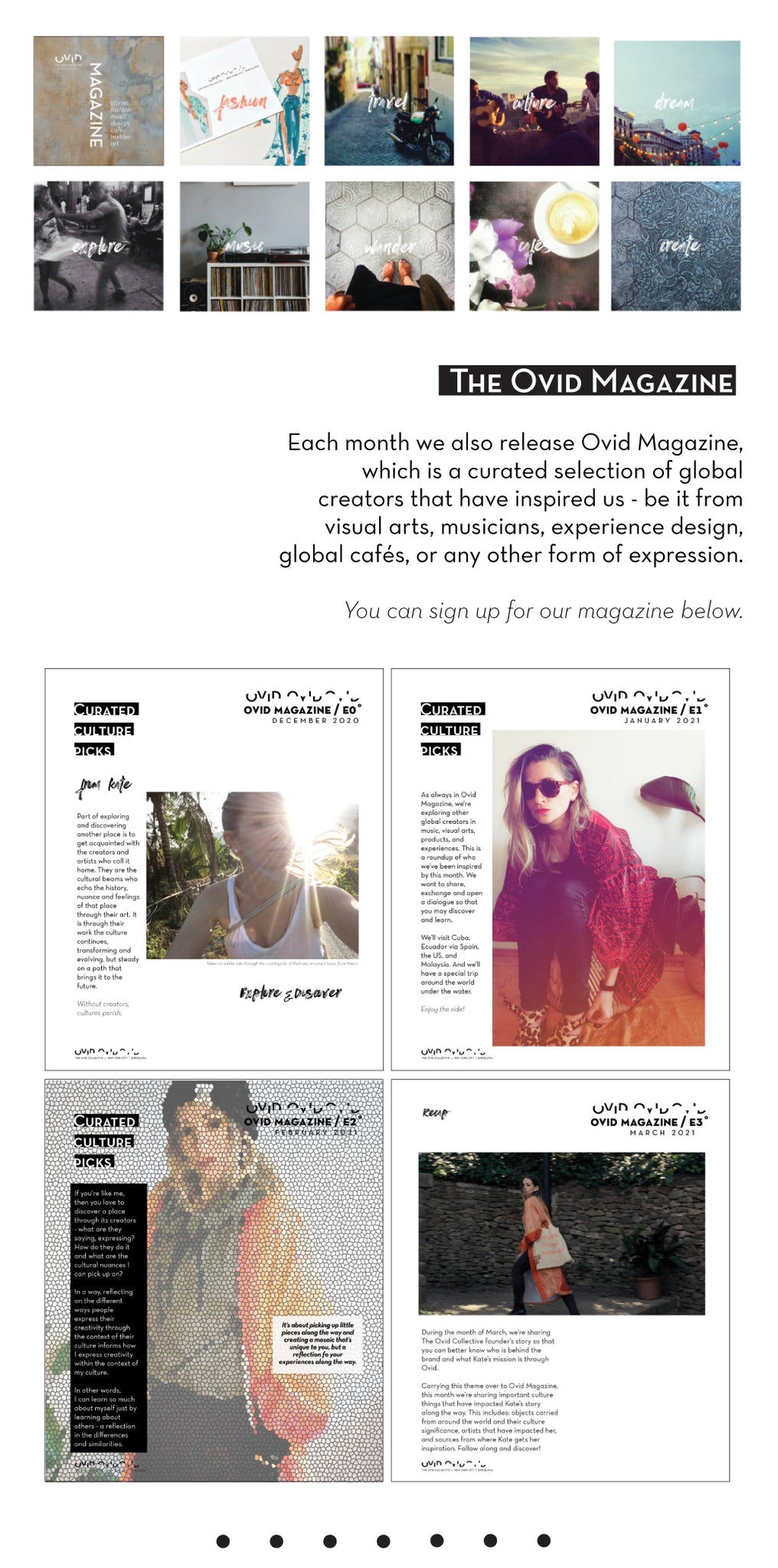 The Ovid Collective Culture Magazine about world creators, artists and musicians