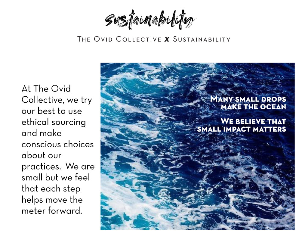 Ovid Collective Sustainability and Ethical sourcing about