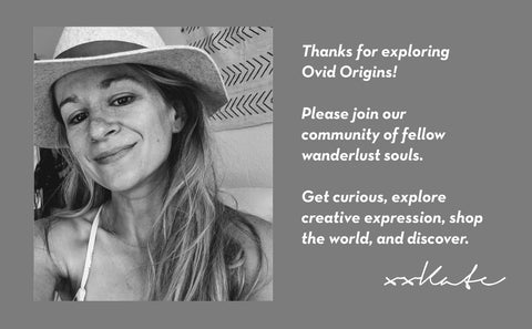 Founder's note about sustainable ethical globally inspired boho fashion brand thank you note