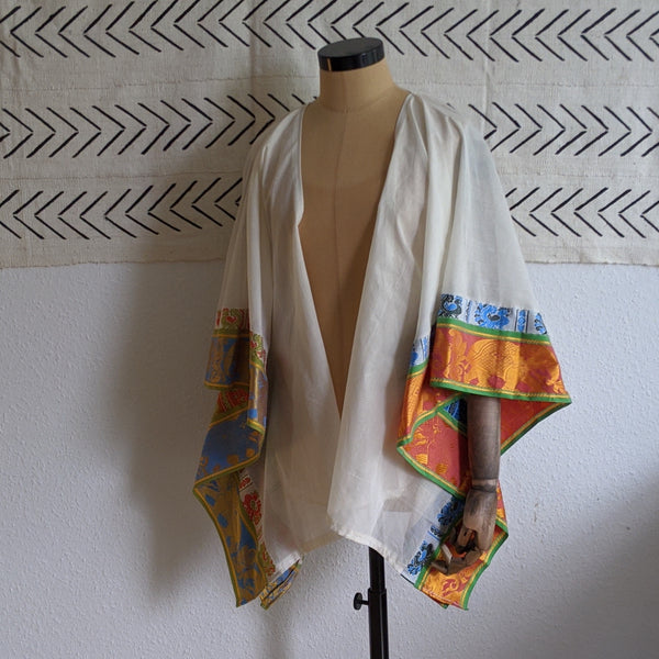 Indian Elephant Kaftan Cream