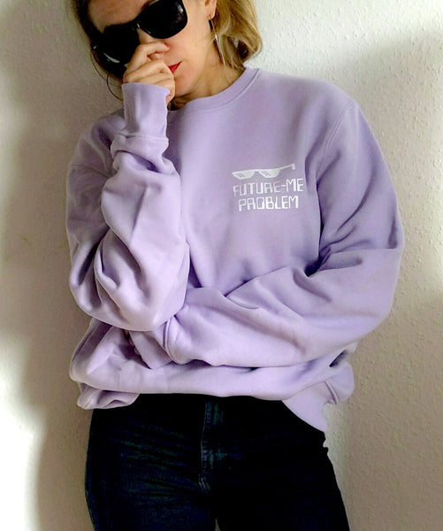 Unisex Future Me Problem Lavender Sweatshirt