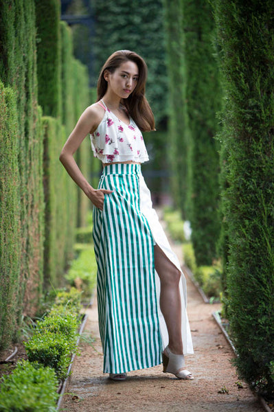 71a839c26 Barcelona Striped BoHo Maxi Skirt by The Ovid Collective – TheOvidCollective