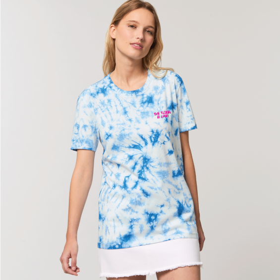 Women's The Floor Is Lava Tie Dye Organic Tee