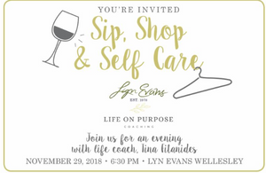 Sip, Shop and Self Care at Wellesley