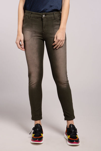 Stone Wash Patch Pant