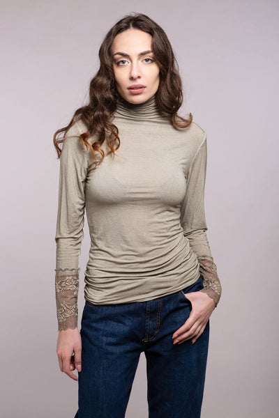Stone Wash Lace Top