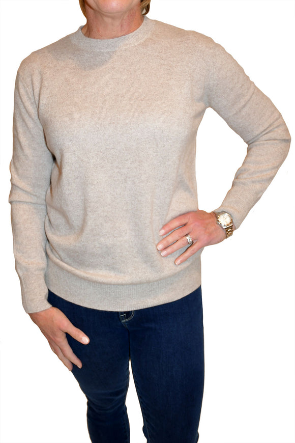 Cashmere sweater in beige from Minnie Rose.