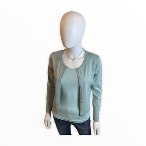 Shrunken Cardigan Mint Green