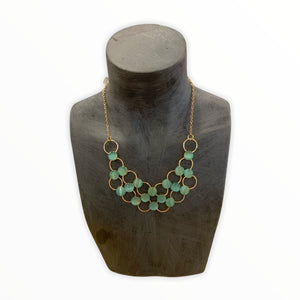Mint Green Bib style Necklace