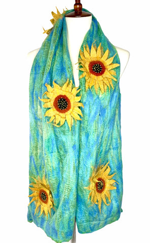 Van Gogh Sunflowers Inspired Scarf