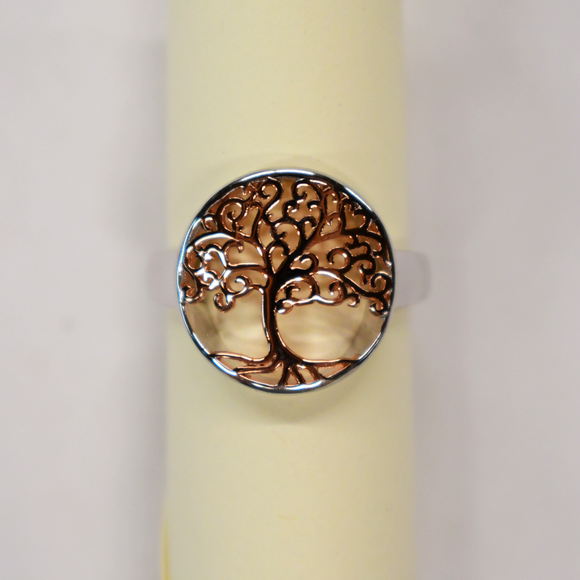 Gold & Silver Tree of Life Ring