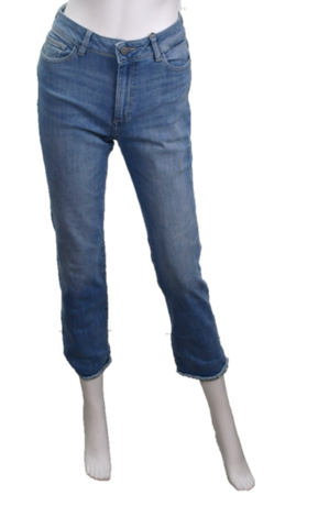 Mara Ankle High Rise Straight Leg Jeans