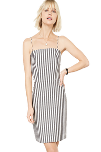 Spaghetti Strap Striped Dress