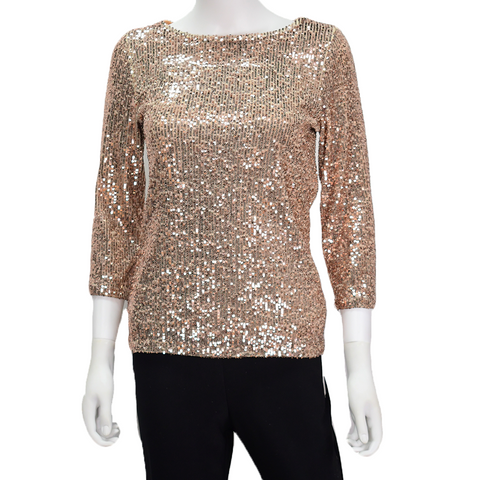 Long Sleeve Sequin Top