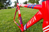 Custom Aventon Cordoba Union Jack frame and skinsuit for Red Hook Crit, London