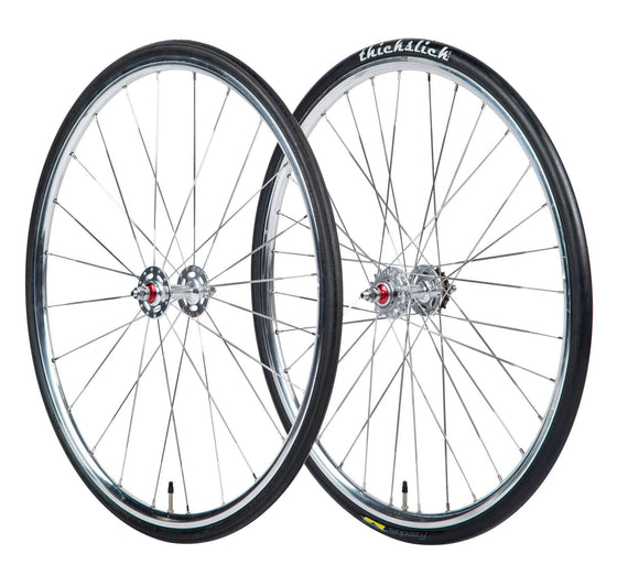 BLB Classic Wheelset with tires, tubes, cog, and freewheel