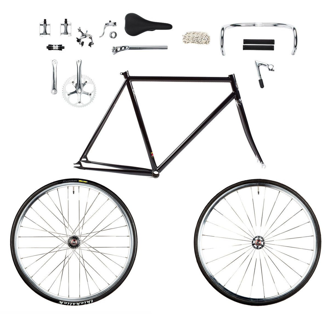 BLB Classic-R DIY bundle with frame, fork, wheelset, and build kit
