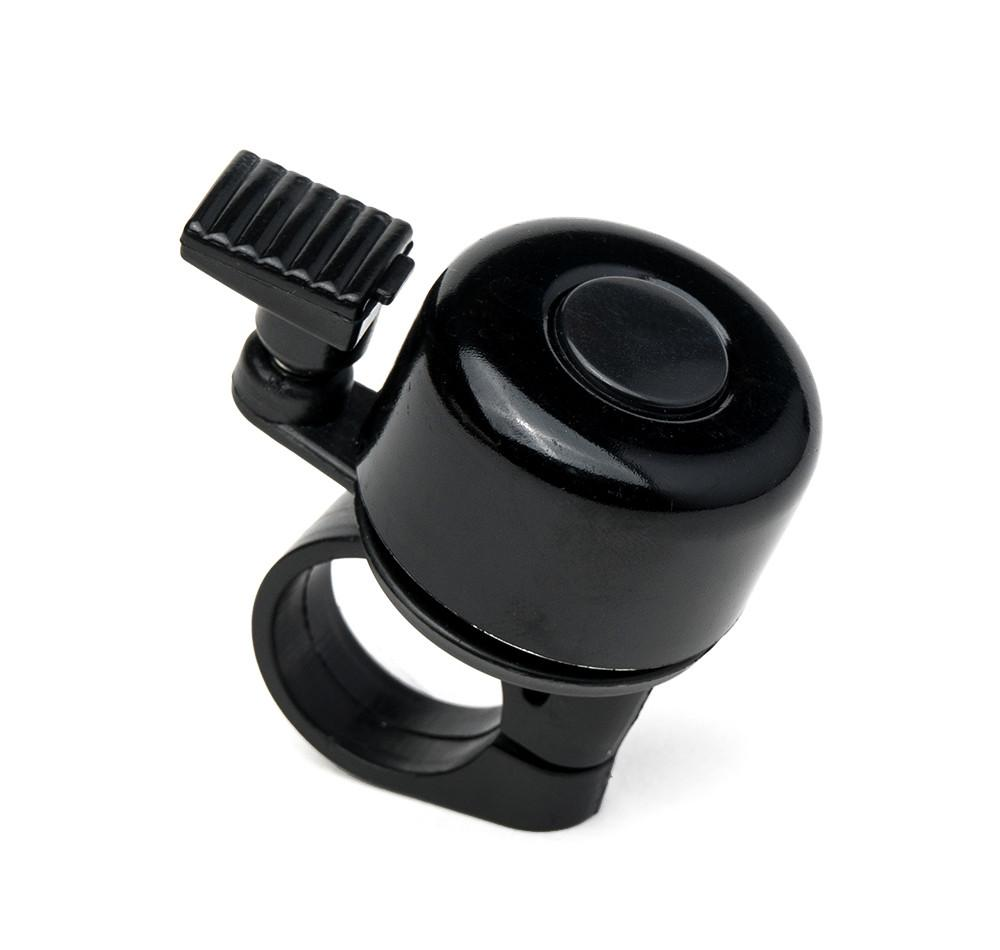 Aluminum Mini Bicycle Bell - Black at Aventon Bikes  - 1