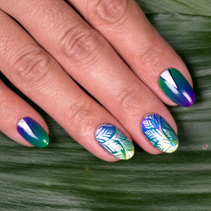 DIY Nail Art Rainbow Leaves