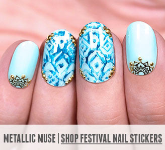 Metallic Muse | Shop Festival Nail Stickers