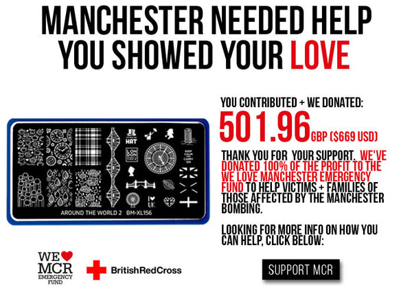You contributed + we donated 501.96GBP to the Manchester Emergency Fund