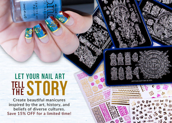 Let Your Nail Art Tell the Story | Save 15% Off Mythology Release for a Limited Time.