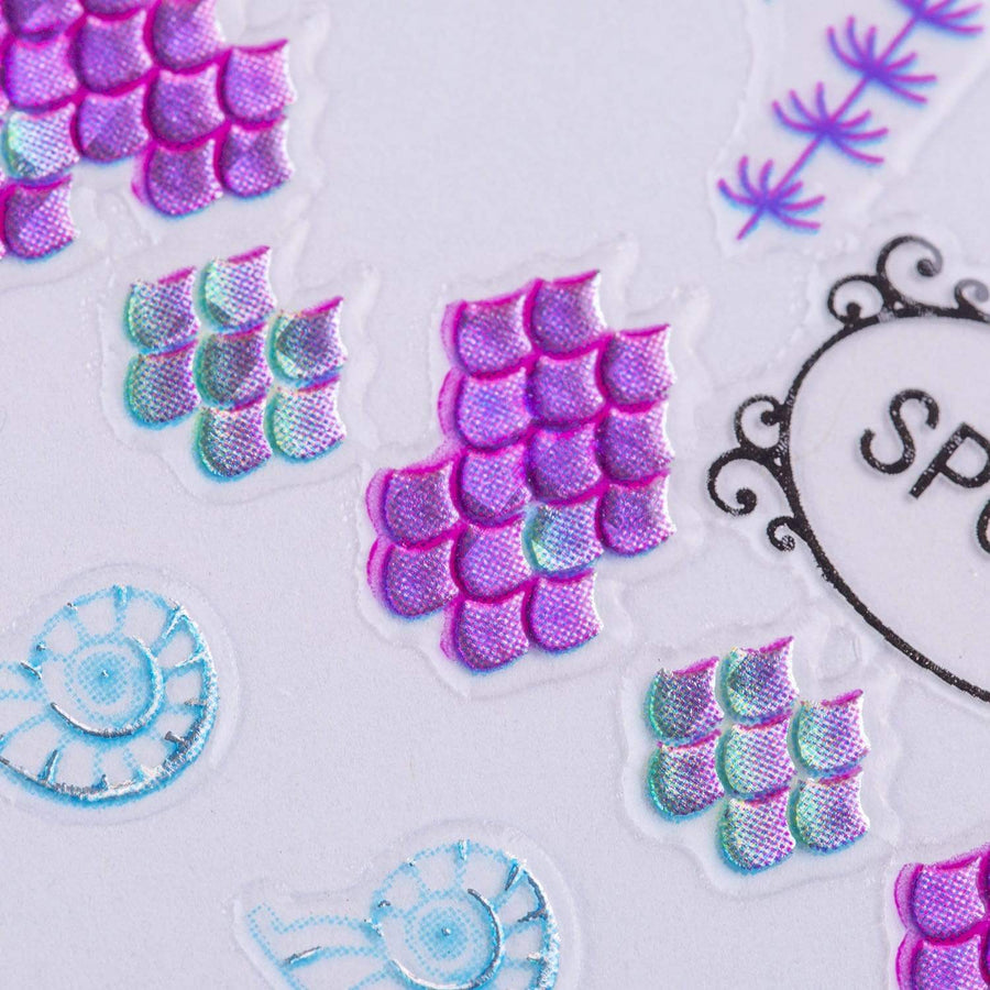 Don't Be Jelly (SP036) - Metallic Foil Nail Art Sticker Sheet