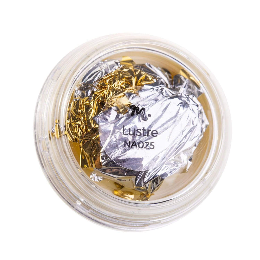Lustre (NA025) dual-colored metallic gold and silver foil by Maniology.