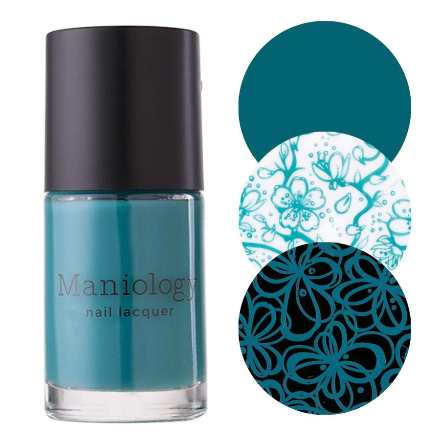Beautiful icy blue hue Stamping Polish inspired by Ice Pond (B251) by Maniology.