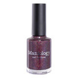 Moods: Bossy (P102) - Plum Purple Scattered Holographic Shimmer Nail Polish