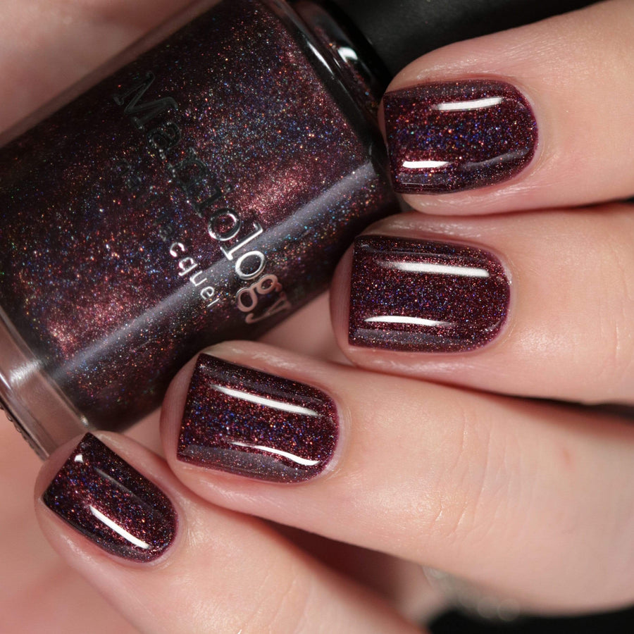 Maniology Moods holographic polish in Bossy