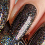 Moods: Dreamy (P105) - Black Holographic Shimmer Nail Polish