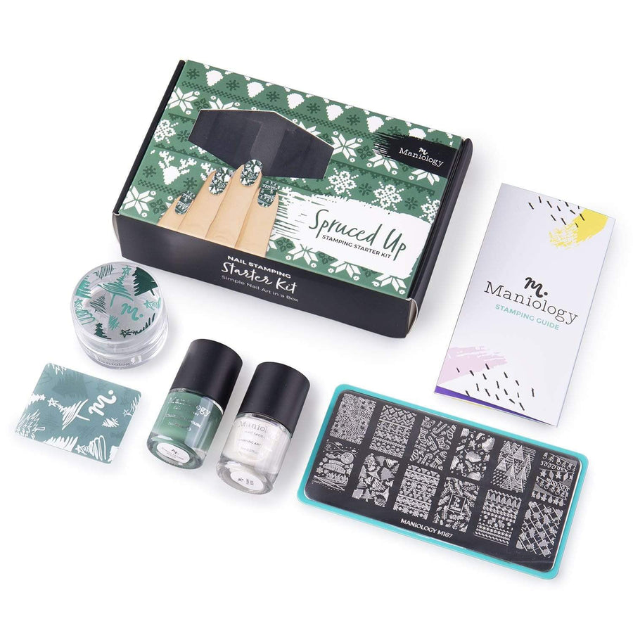 Spruced Up Stamping Starter Kit - Plate, Polishes, Stamper & Scraper