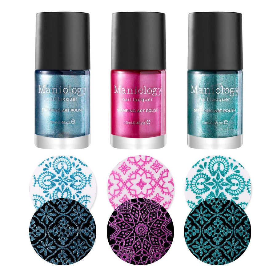 Winter Occasions XL Bundle: 4 Plates, 3 Polishes, and Limited Edition Holiday Stamper & Scraper