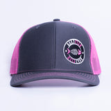 Casquette Roadfish Tag Charbon/Rose néon