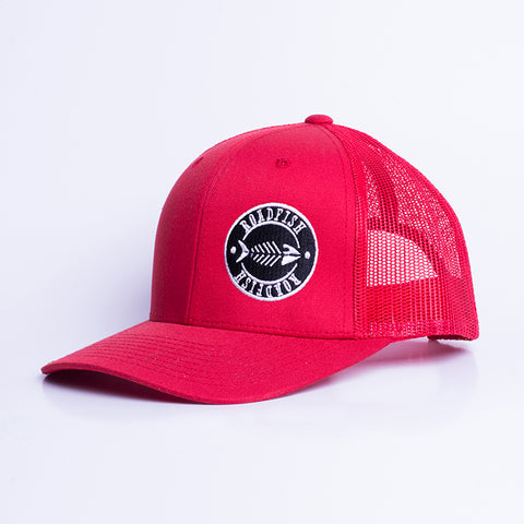 Casquette à filet Roadfish Tag Rouge/Rouge