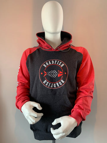 Chandail Hoodie Roadfish Noir/Rouge