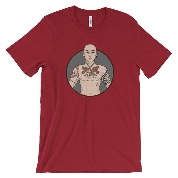 Tattooed Daddy - Bella + Canvas Unisex Short Sleeve Jersey T-Shirt - TriggerMouth T-Shirts and Tank Tops