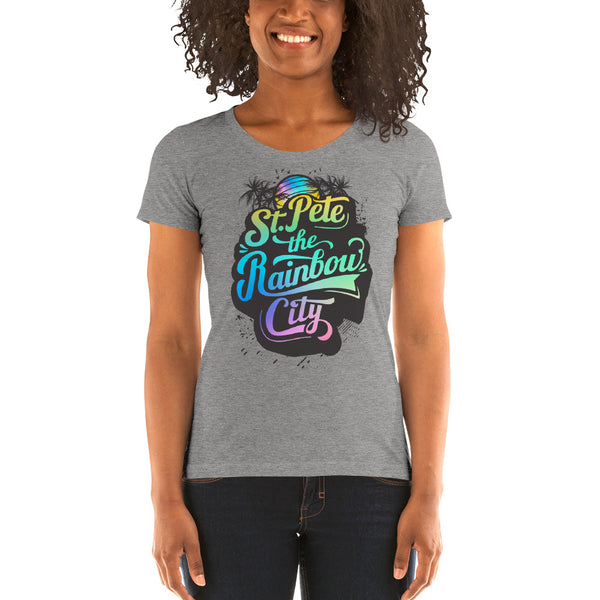 St.Pete The Rainbow City - Ladies' short sleeve t-shirt